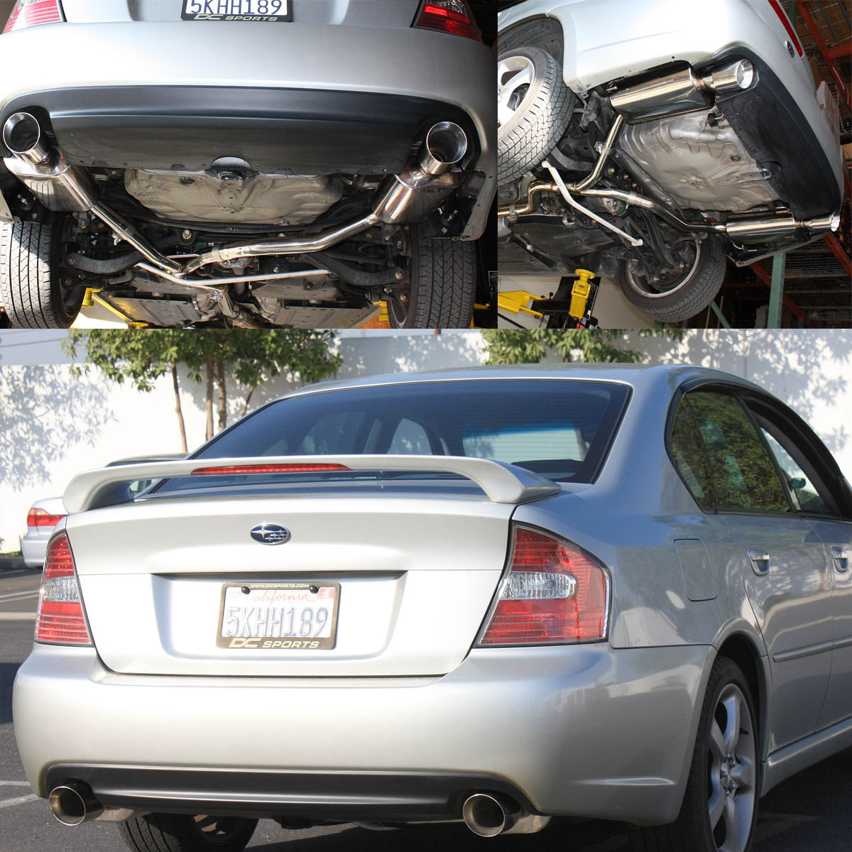 for 2005 to 2009 subaru legacy bl bp gt 2 5l dual 4 path muffler tip catback exhaust system 06 07 08