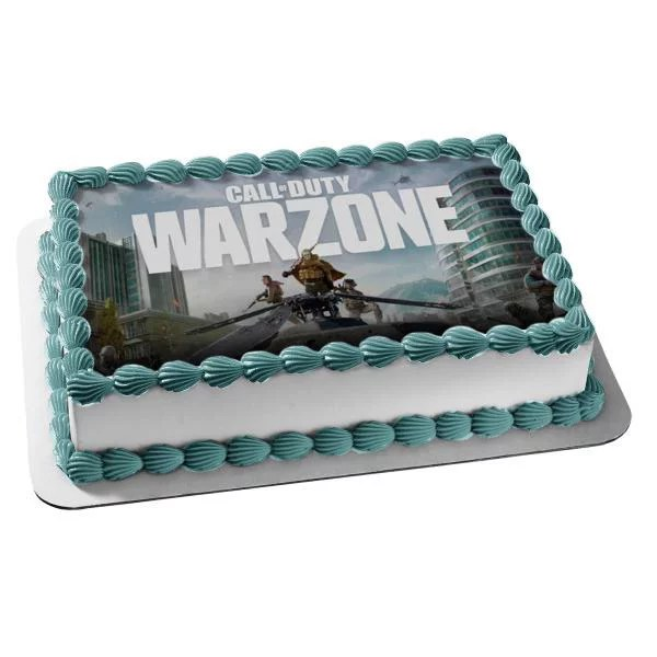 Call Of Duty Warzone Video Game Fps Edible Cake Topper Image Abpid51417 Walmart Com Walmart Com