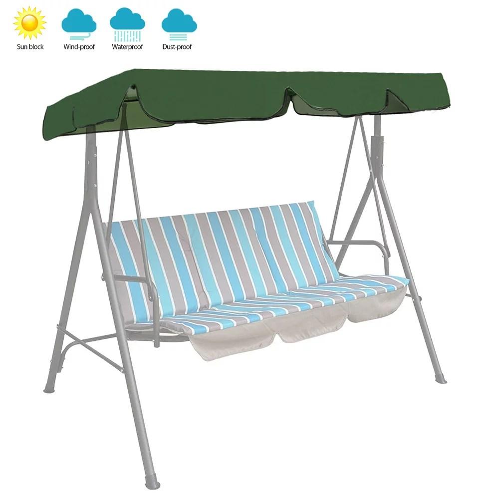 willstar us outdoor garden patio swing canopy seat top waterproof sunshade cover replace