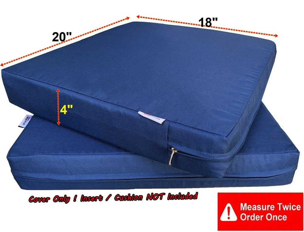 waterproof outdoor 4 pack deep seat chair patio cushions zipper cover 20 x18 x4 duvet replacement cover