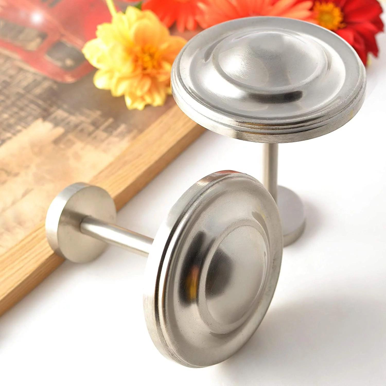deco window holdback curtain tieback set of 2 spin medallion satin silver walmart com
