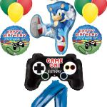 Sonic The Hedgehog Party Supplies 5th Birthday Balloon Bouquet Decorations 14pc Walmart Com Walmart Com