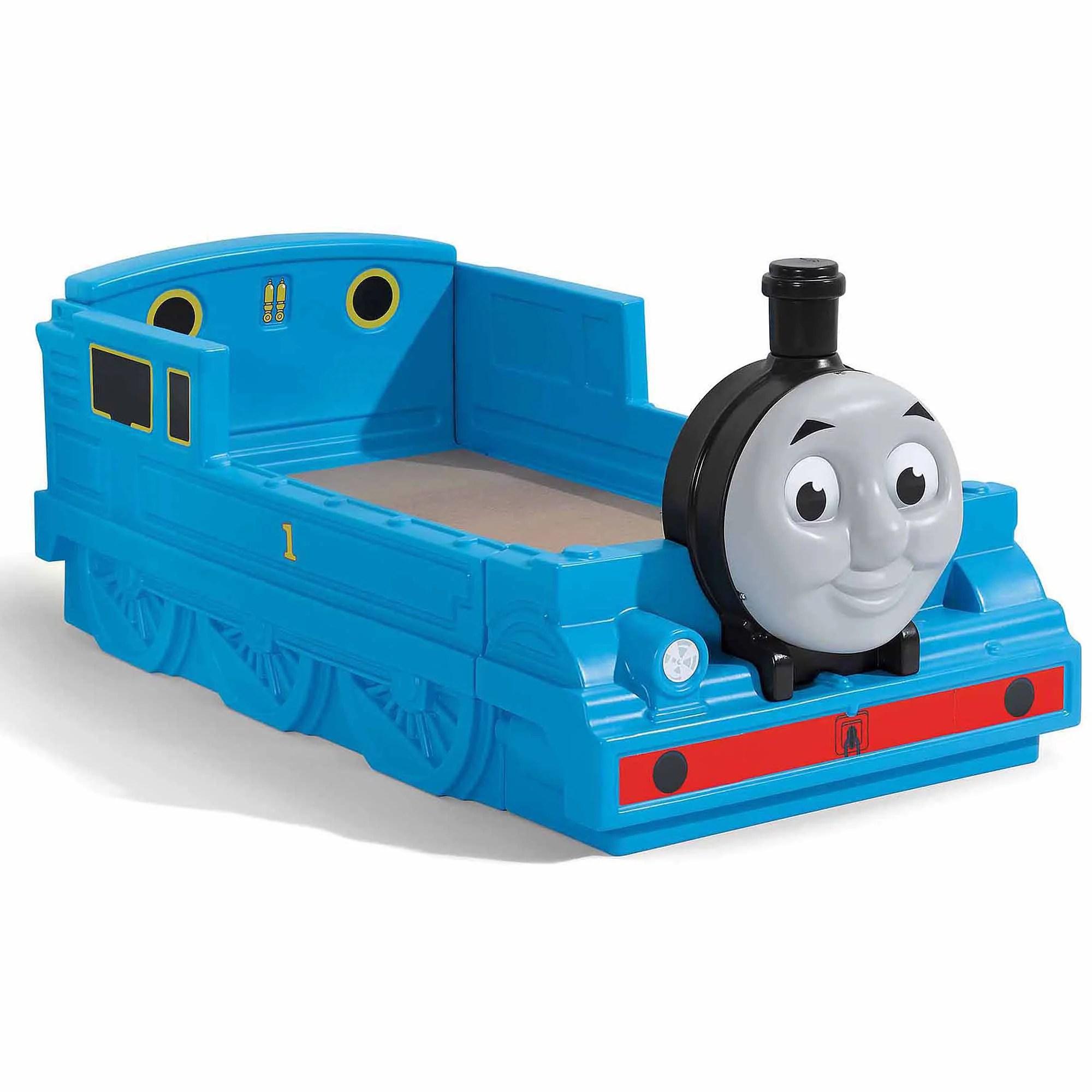 step2 thomas the tank engine plastic toddler bed blue walmart com