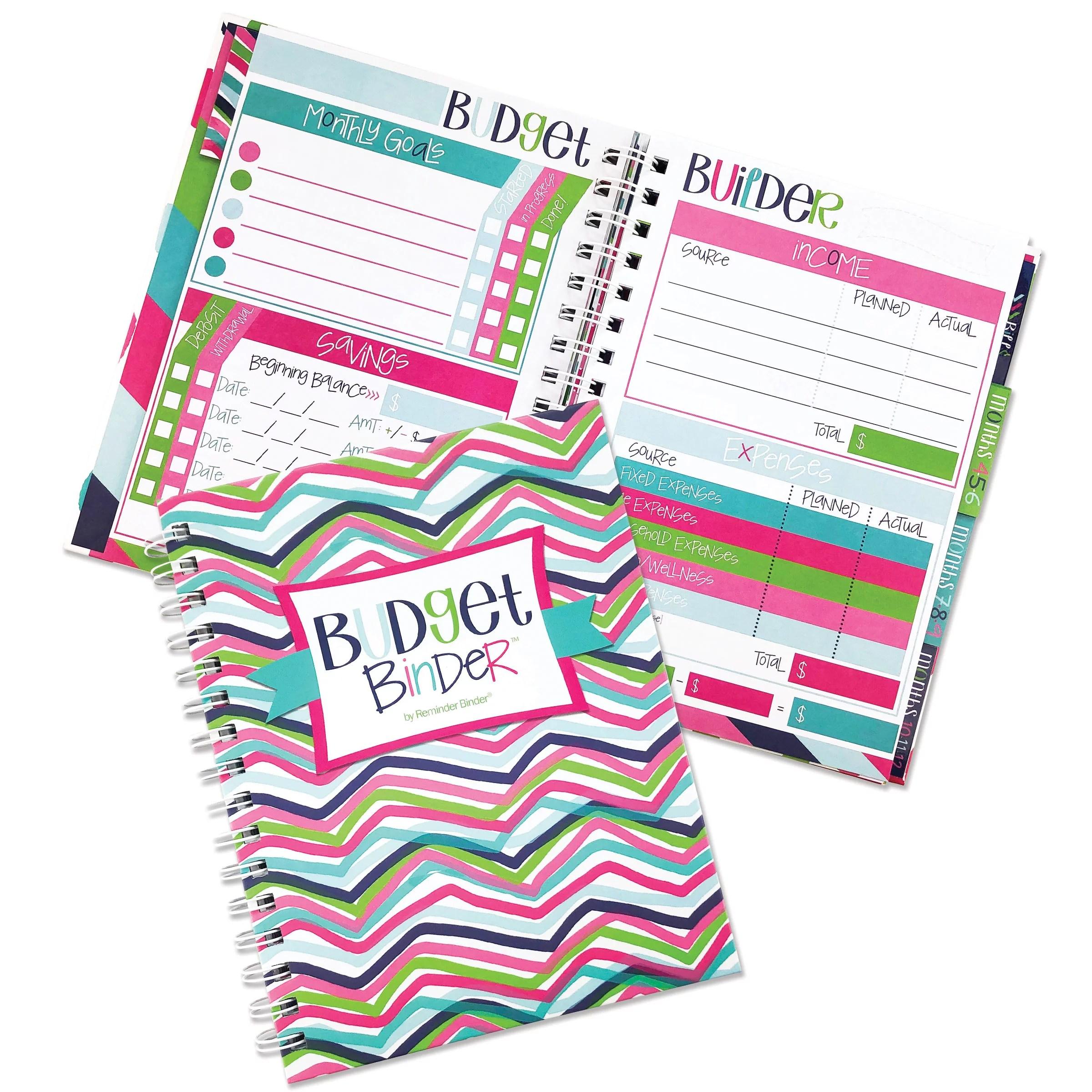 12 Month Budget Planner Bill Tracker Organizer W Calendar