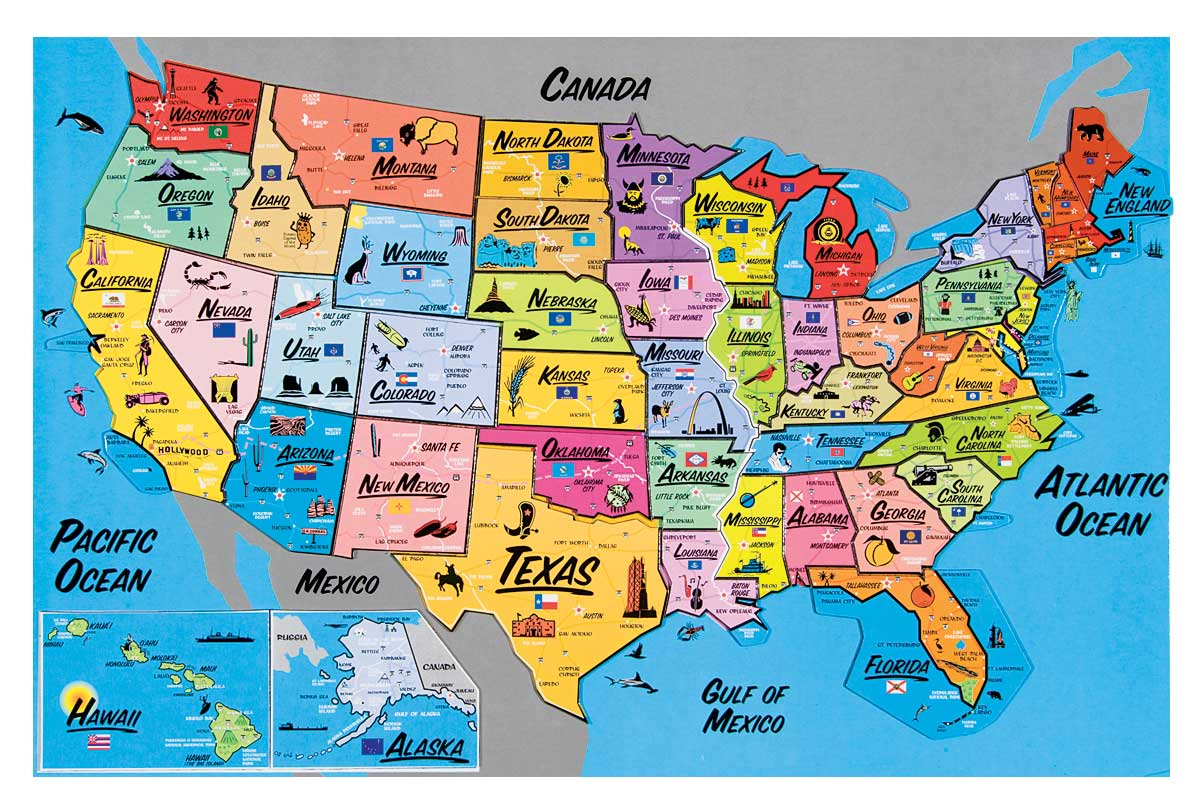 Usa Magnetic Map Puzzle