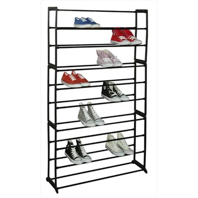 sunbeam 50 pair shoe rack black