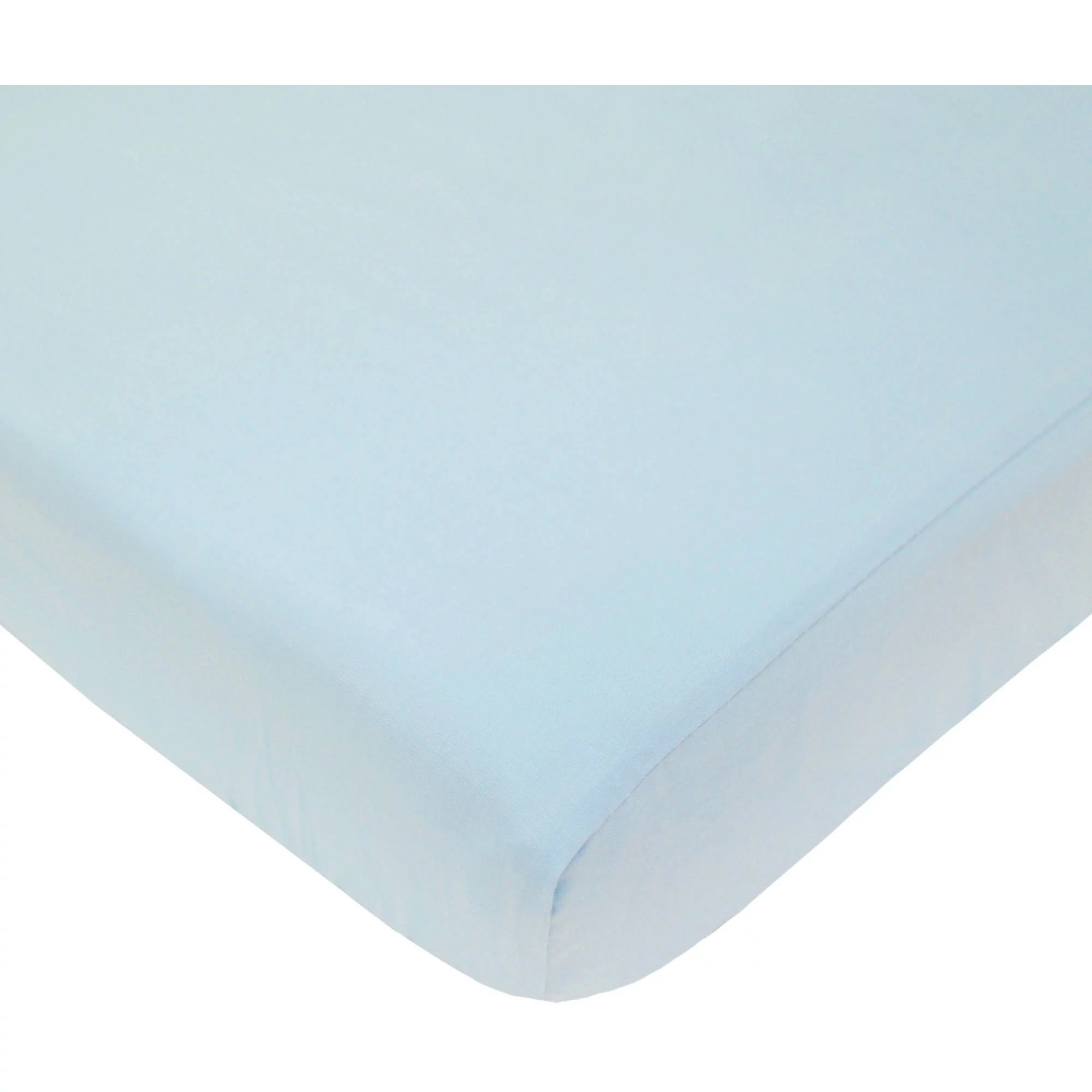 American Baby Co. Percale Cotton Fitted Portable/MiniCrib Sheet, Blue