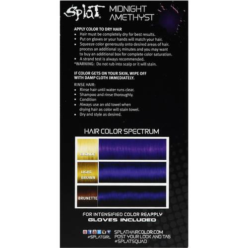 Splat Hair Dye Bleach Timing Chart Lajoshrich