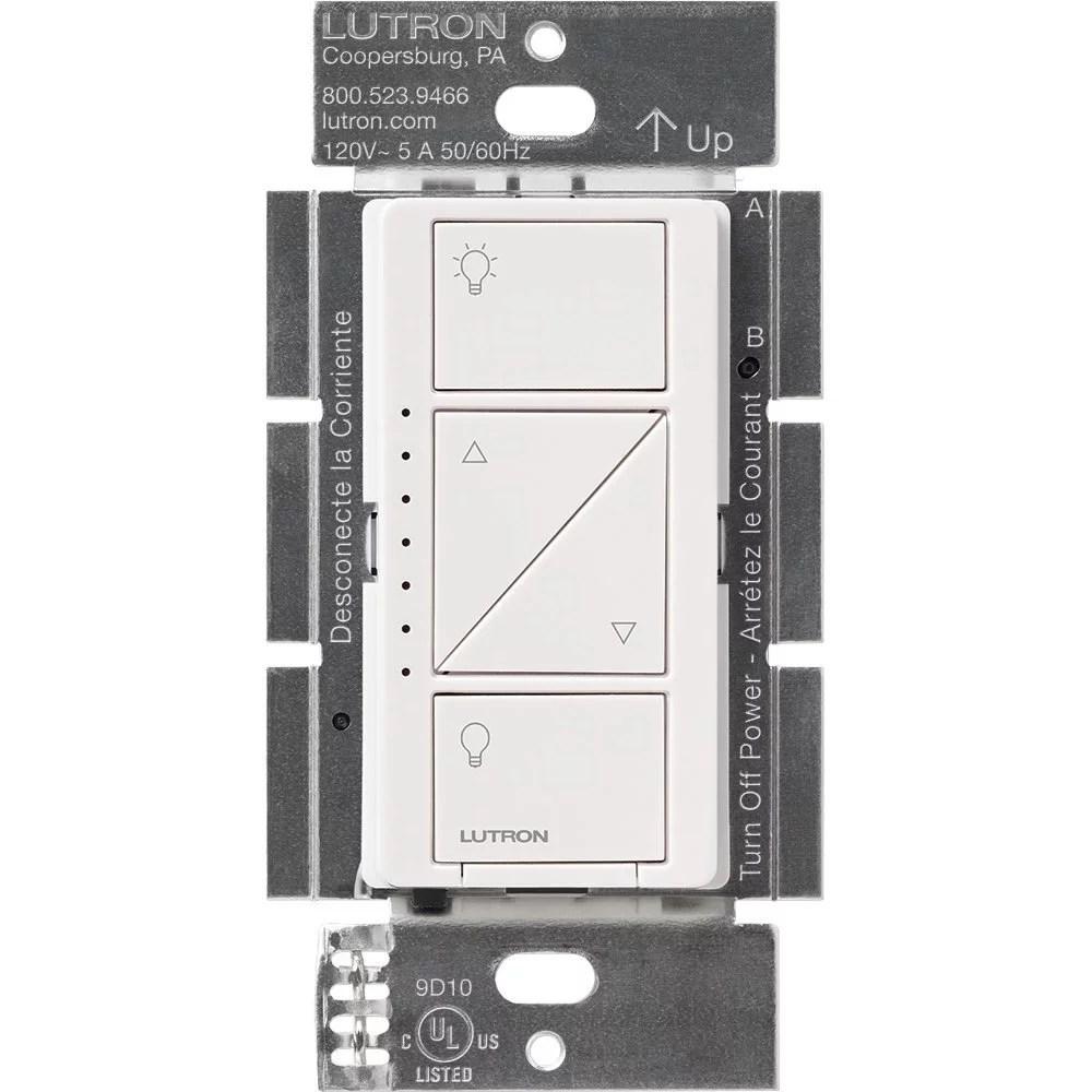 lutron caseta wireless smart lighting dimmer switch white walmart com
