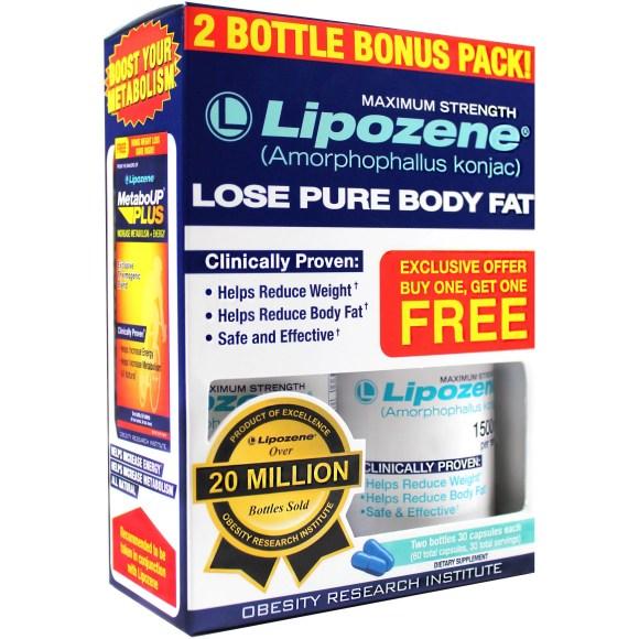 Lipozene Maximum Strength Fat Loss Supplement, 30 ct, 2 pk ...