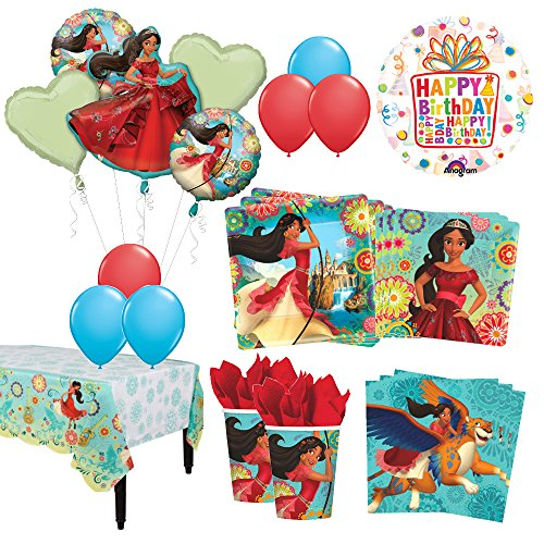 The Ultimate 8 Guest 53pc Princess Elena Of Avalor Birthday Party Supplies And Balloon Decoration Kit Walmart Com Walmart Com