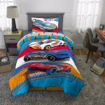 Hot Wheels 2 Piece Comforter And Sham Set Kids Bedding Twin Full Walmart Com Walmart Com