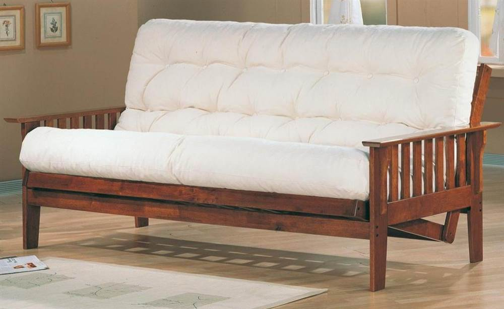 casual wooden futon frame walmart com