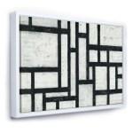 Black And White Labyrinth Geometric Mid Century Modern Framed Canvas Walmart Canada