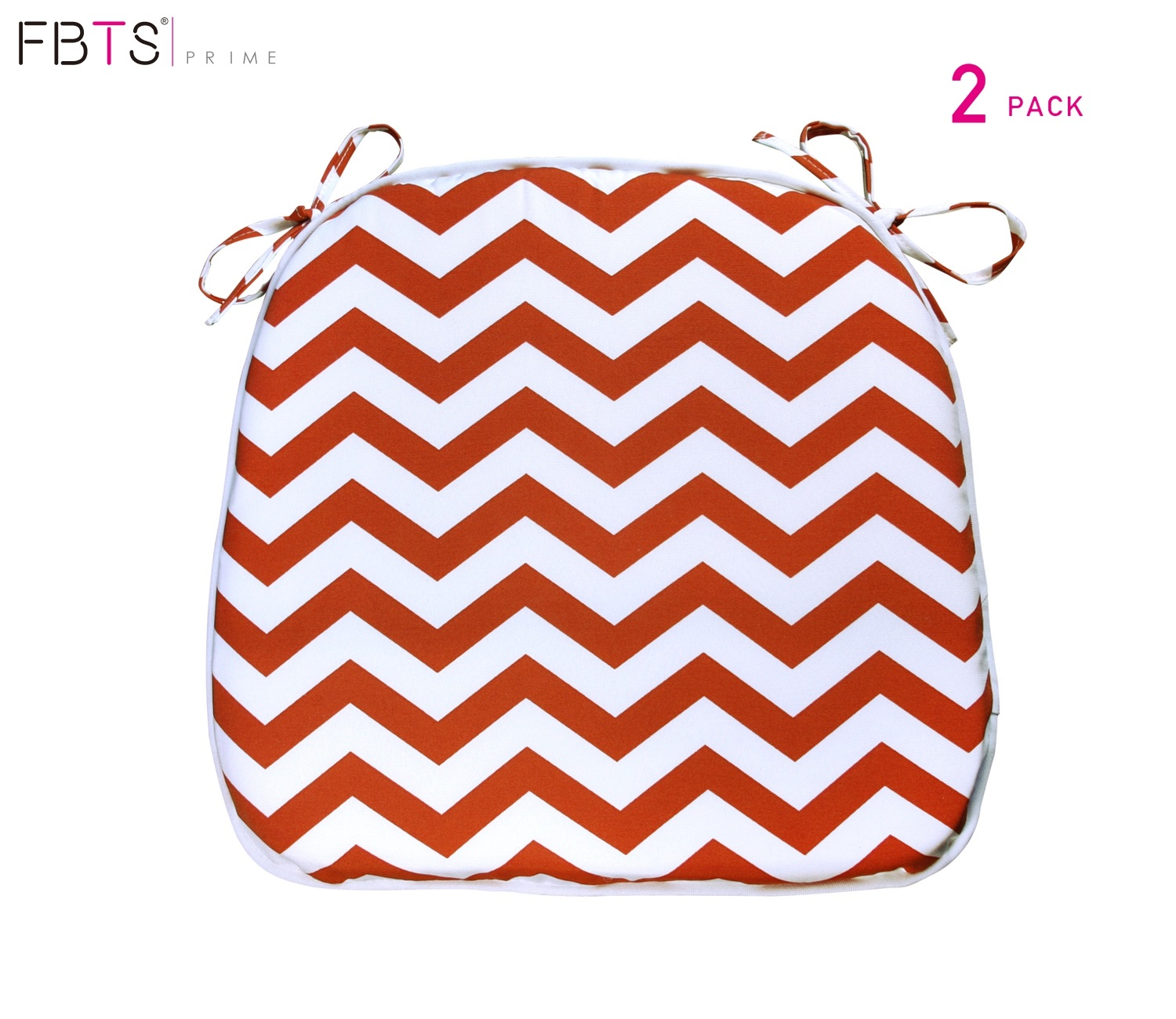 fbts prime outdoor chair cushion set of 2 16x17 inches patio seat cushions orange and white wave square chair pads for outdoor patio furniture