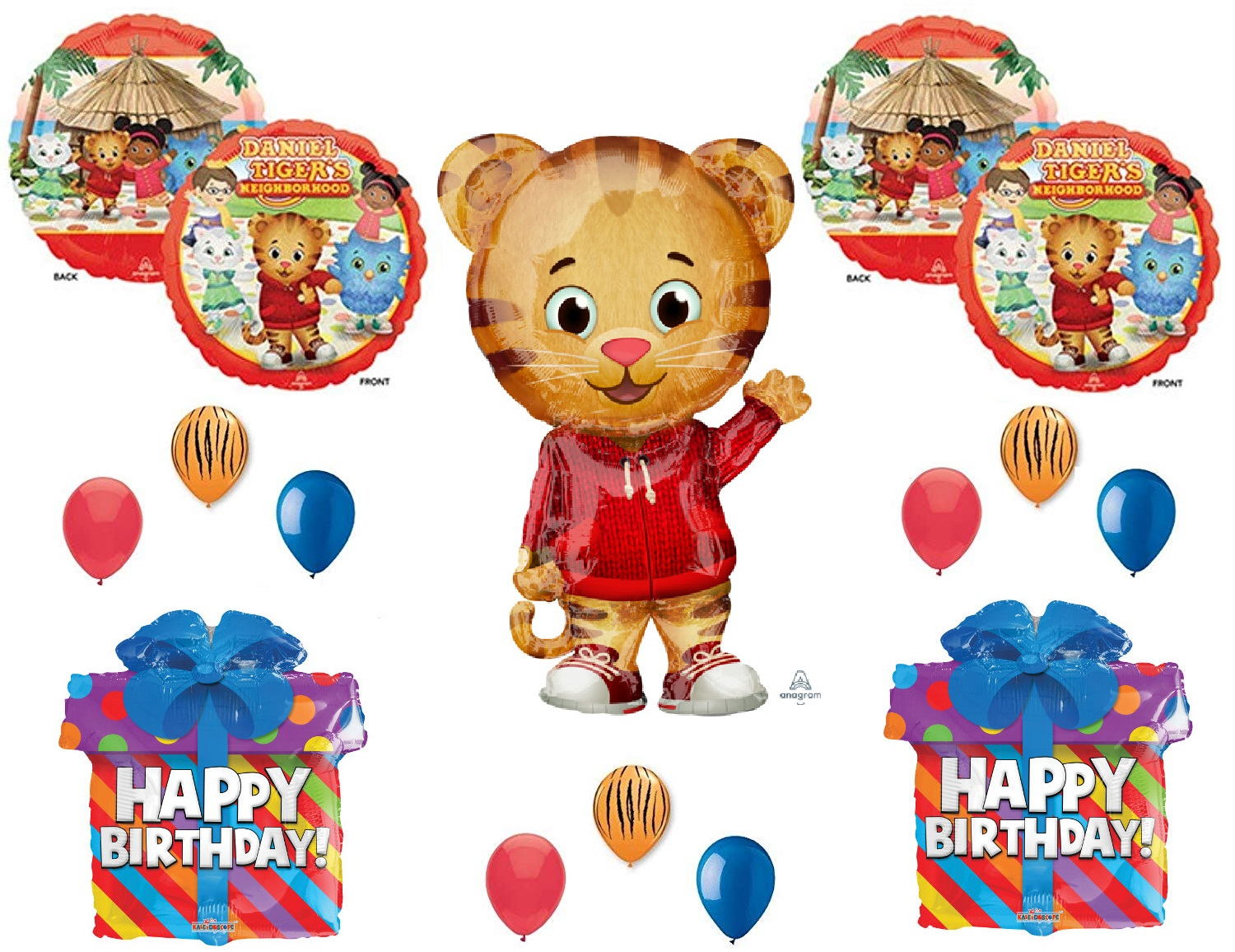Party Supplies Greeting Cards Party Supply Tiger Balloons Latex Birthday Party Daniel Tiger Decor Supplies 6 Pcs