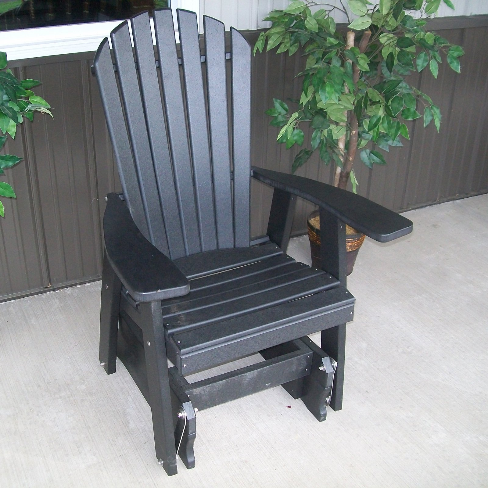 a l furniture adirondack poly recycled plastic 2 ft glider chair