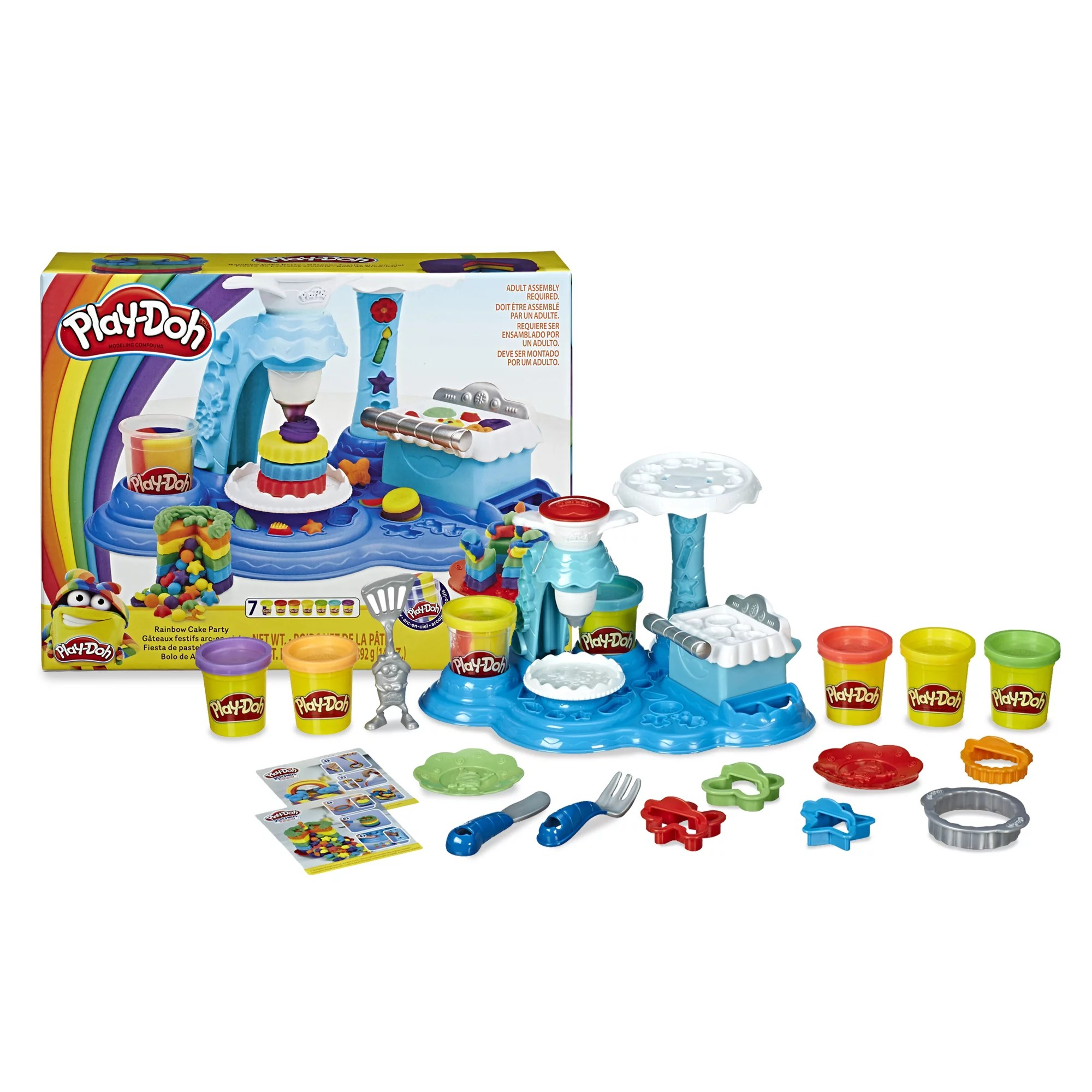 Only At Walmart Play Doh Rainbow Cake Set 7 Cans Of 3 In 1 14 Ounces Total Walmart Com Walmart Com