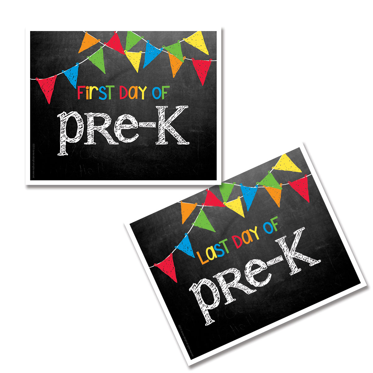 Pre K First Amp Last Day Of School Photo Prop Sign
