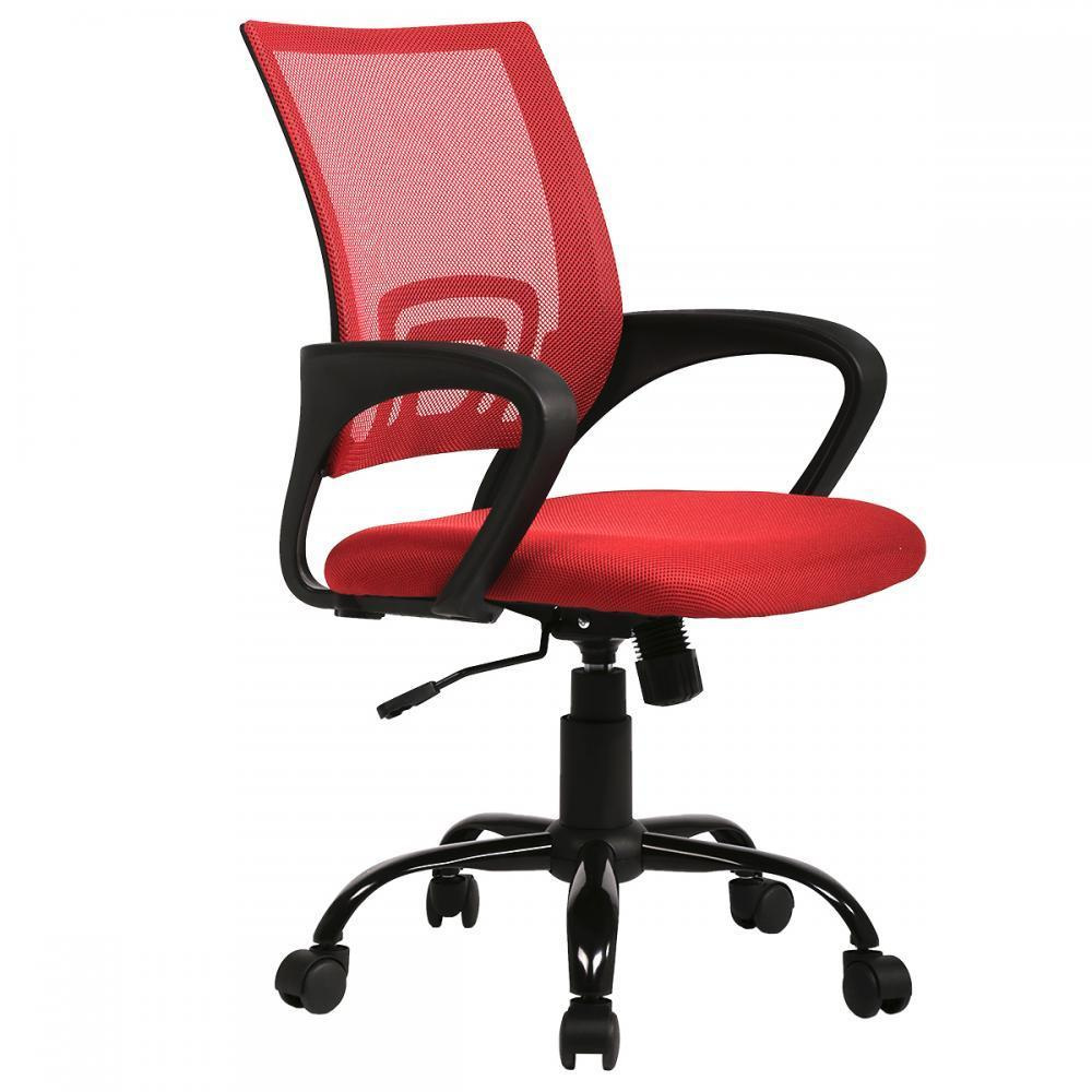 Red Ergonomic Mesh Computer Office Desk Midback Task Chair W Metal Base H03 Walmart Com Walmart Com