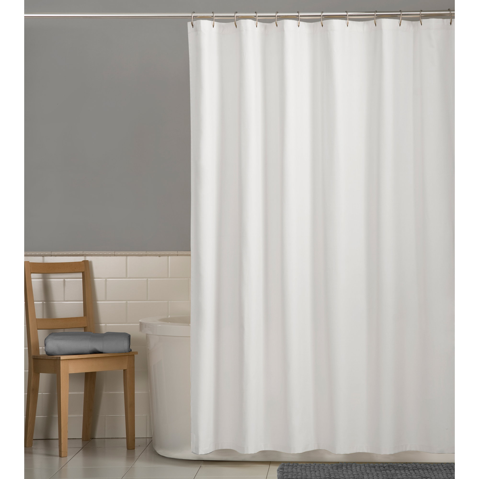 mainstays water repellent 70 x 72 fabric shower liner walmart com