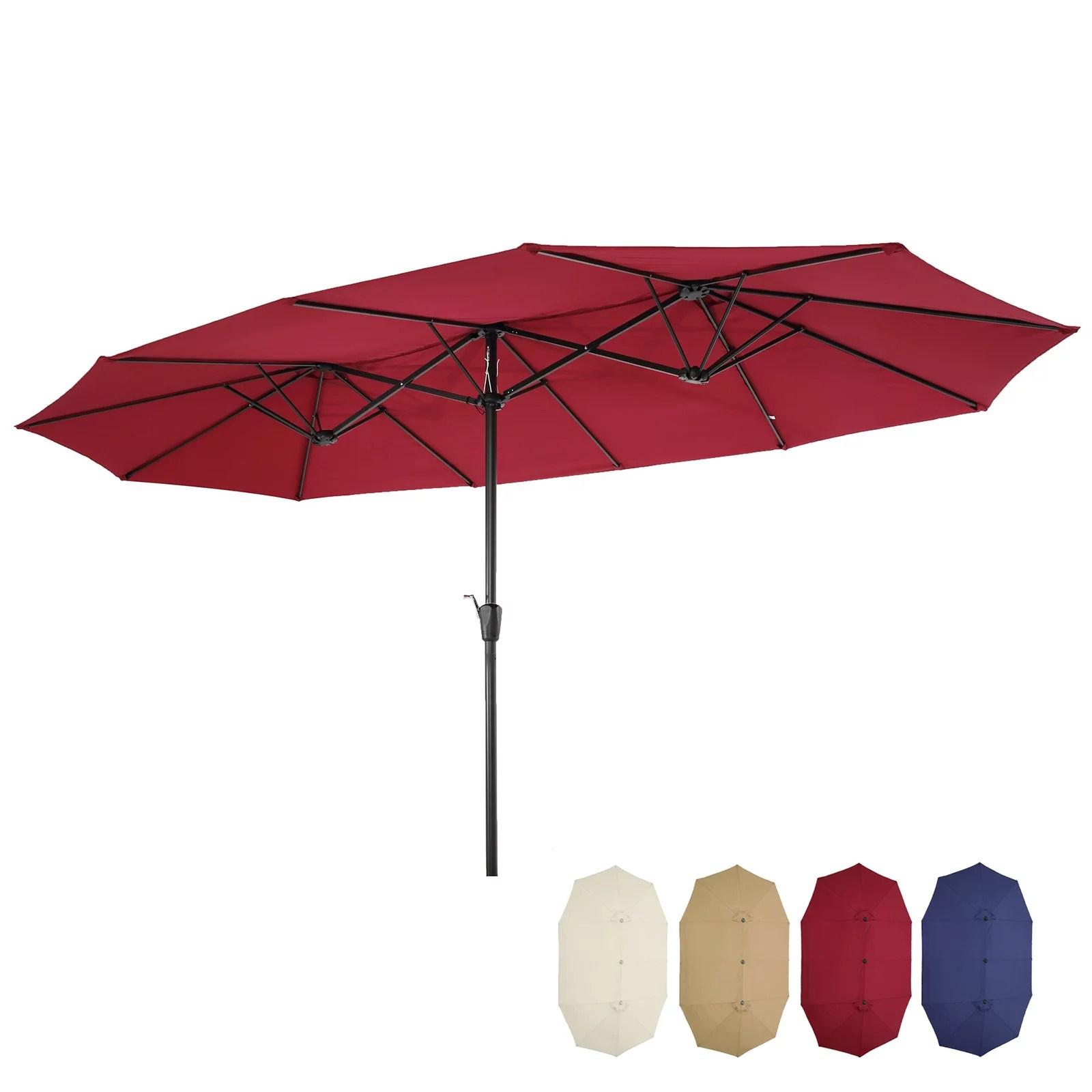 rectangular patio umbrellas walmart com