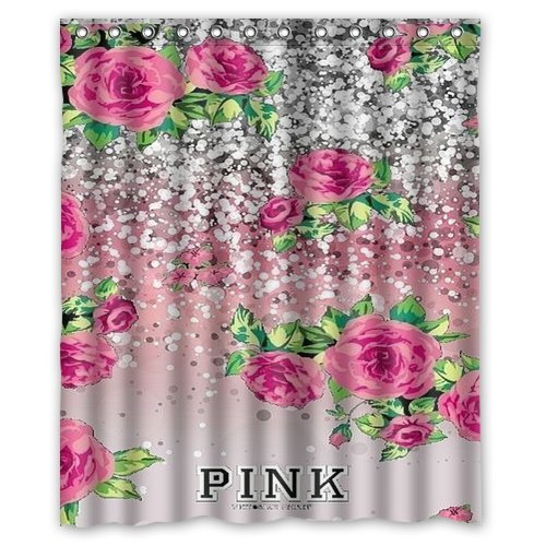 mohome pink victoria secret shower curtain waterproof polyester fabric shower curtain size 60x72 inches walmart com