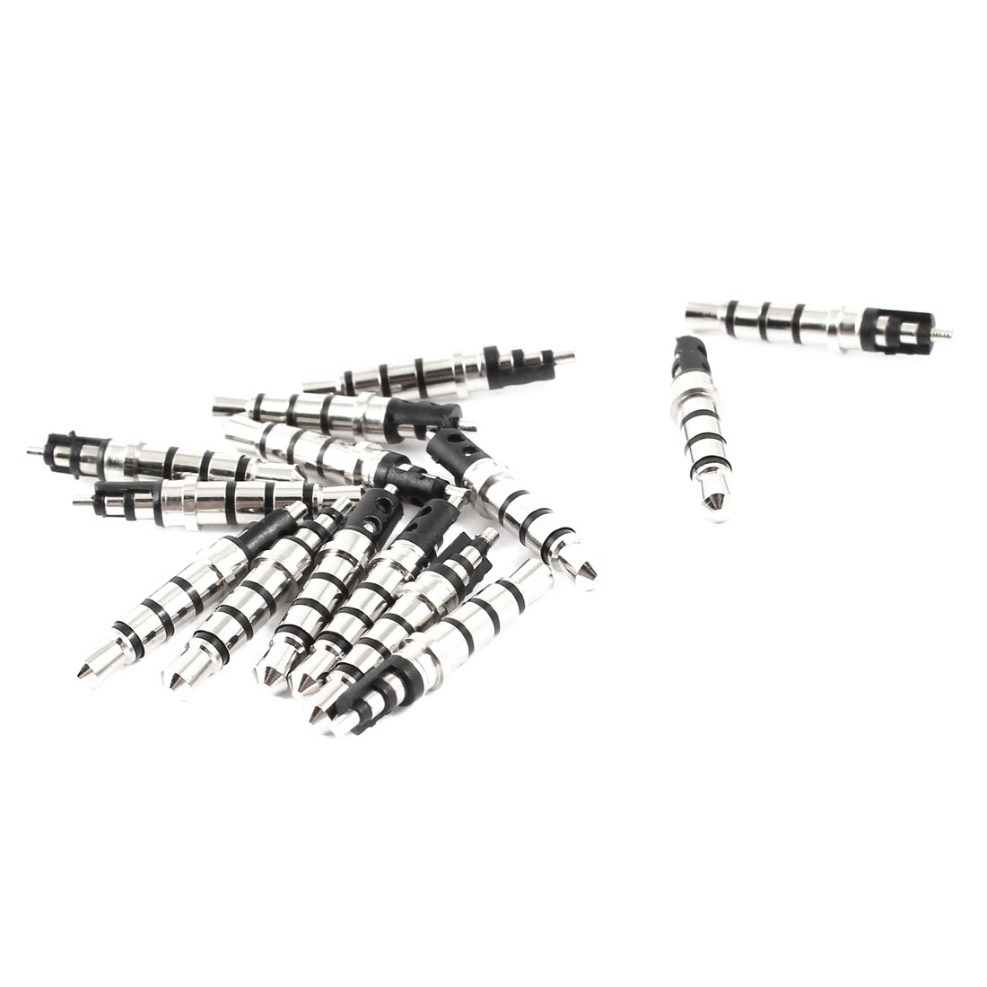 15pcs Silver Tone Black 3 5mm 4 Pole Audio Male Jack