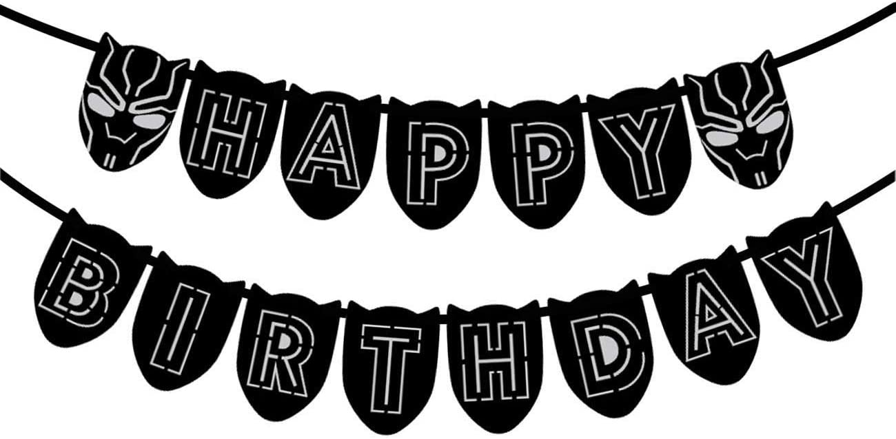 Black Panther Birthday Banner Black Panther Banner Banners Signs Paper Party Supplies Vadel Com