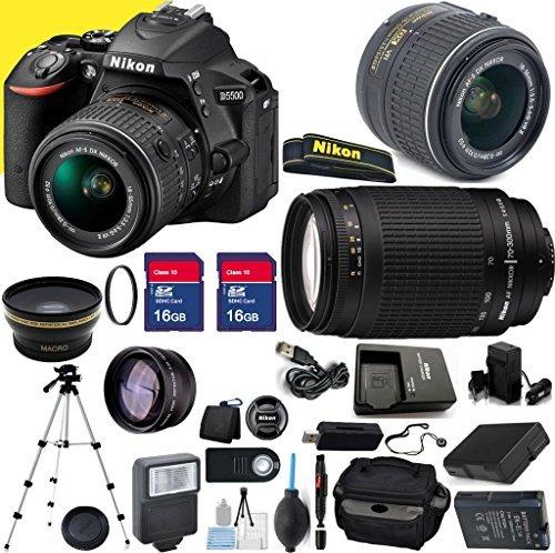Nikon D5500 24.2MP 3.2-Inch Camera with 18-55mm VR II Lens, 70-300mm G Lens