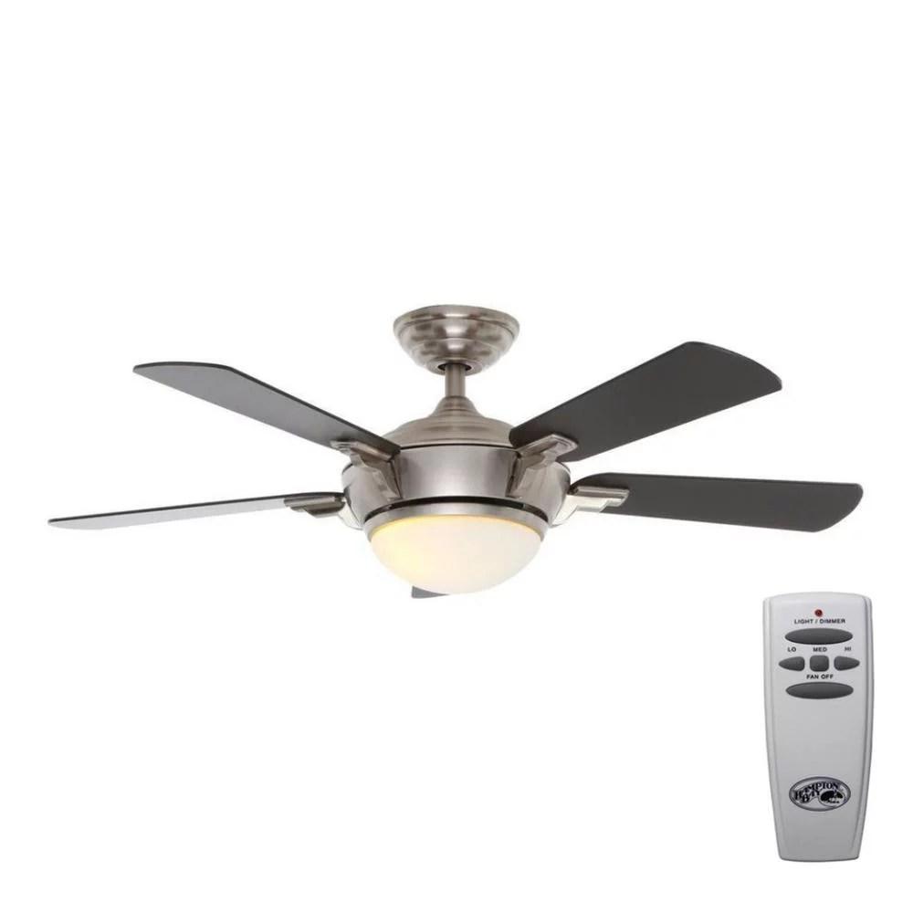 hampton bay midili 44 led indoor ceiling fan with light remote new read walmart com