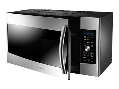samsung mc17f808kdt microwave oven with convection and grill over range 1 7 cu ft 950 w stainless steel with built in exhaust system