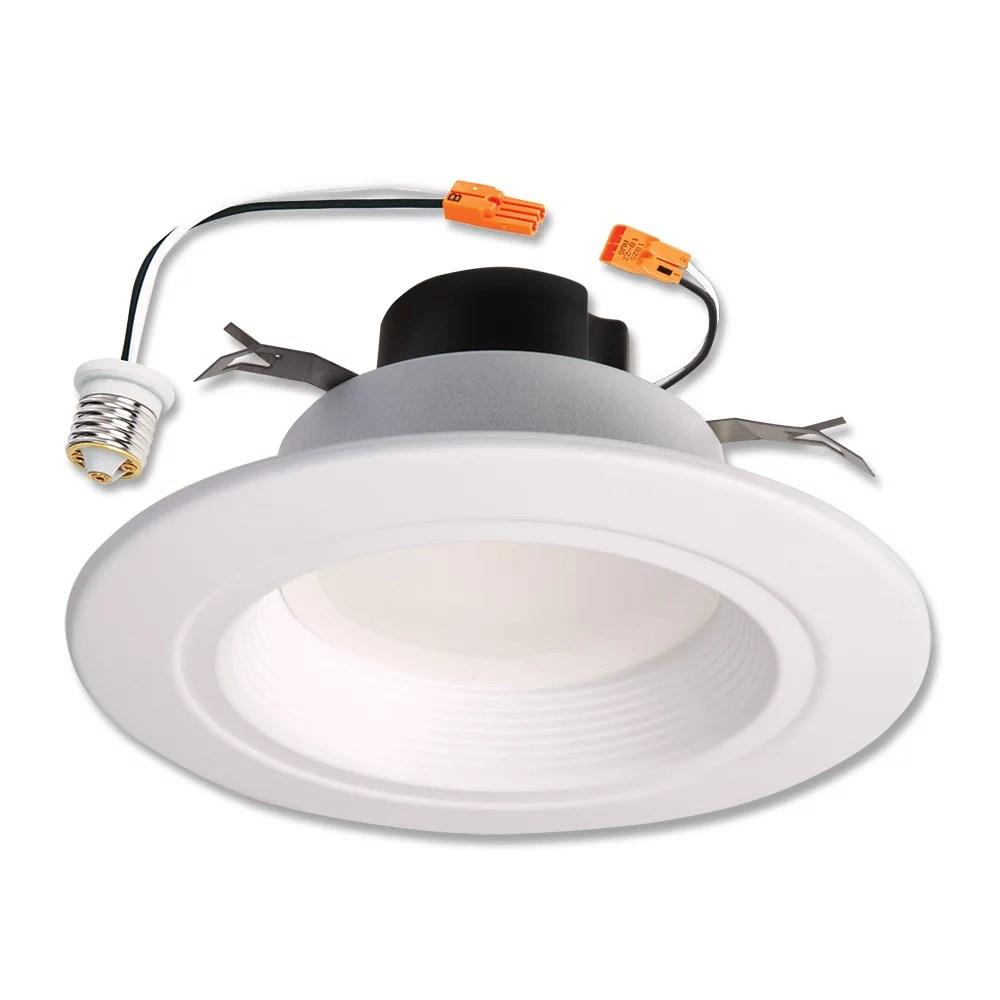 halo recessed lighting rl560wh6935r 5 6 white led retrofit baffle trim module walmart com