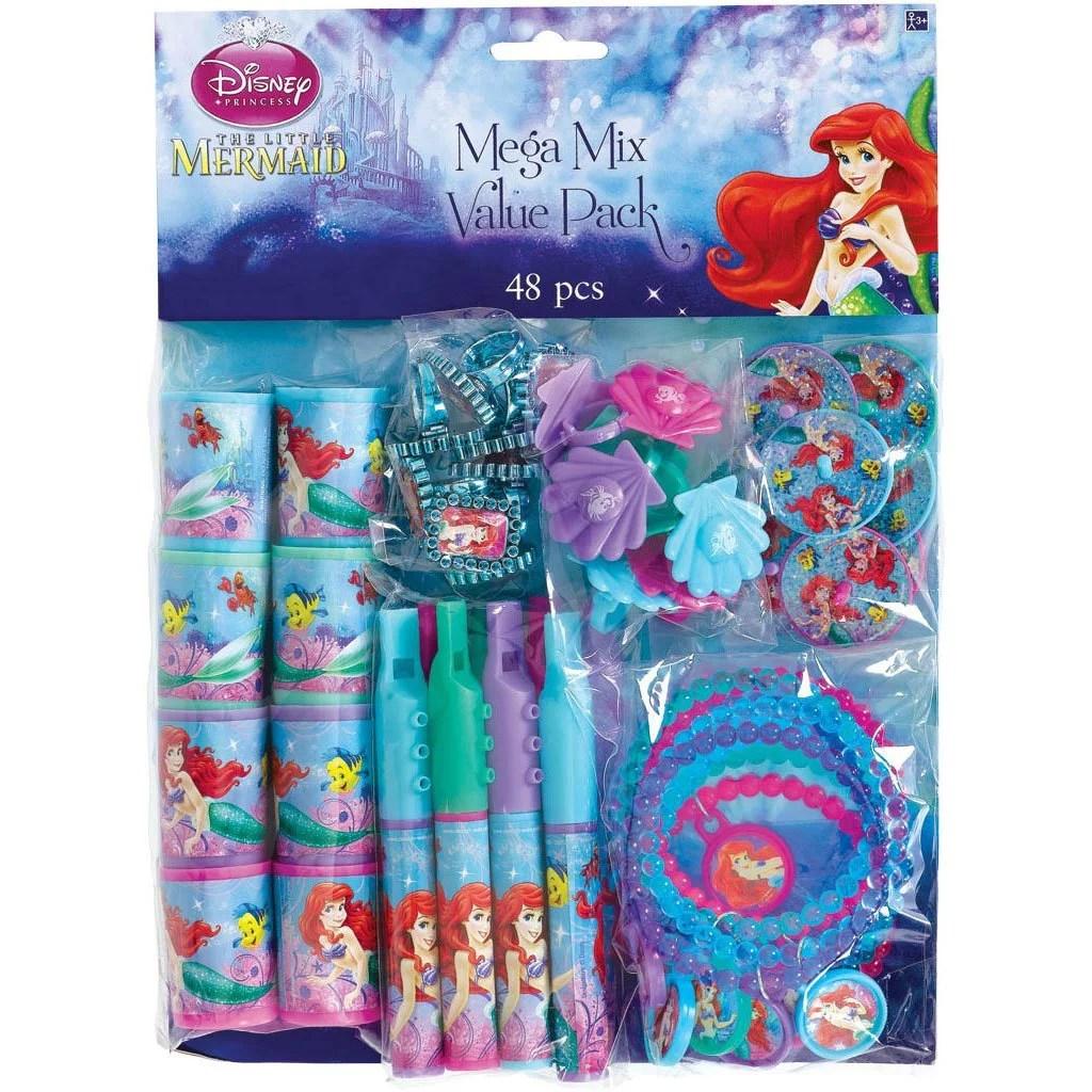 The Little Mermaid Party Favor Pack Value Pack Party Supplies Walmart Com Walmart Com