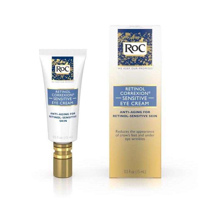 Roc Retinol Correxion Sensitive Eye Cream 0.5 Fl. Oz. Box