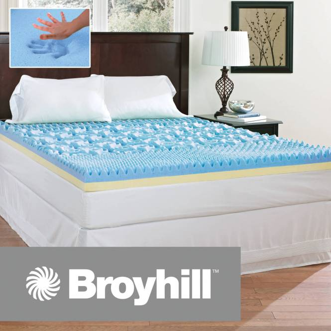 Broyhill Comfort Temp 4 Gel Memory Foam Mattress Topper Multiple Sizes