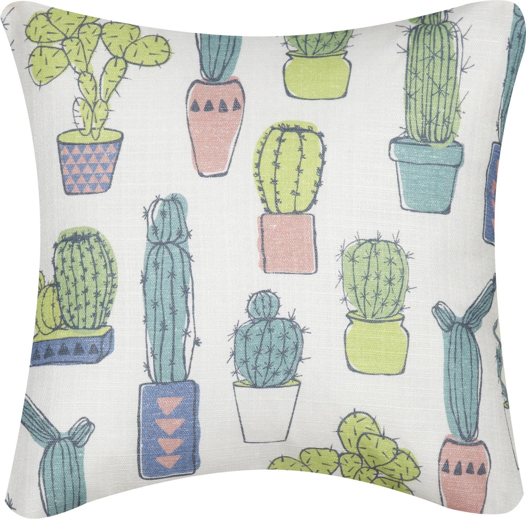 mainstays cactus decorative throw pillow 16 x 16 walmart com