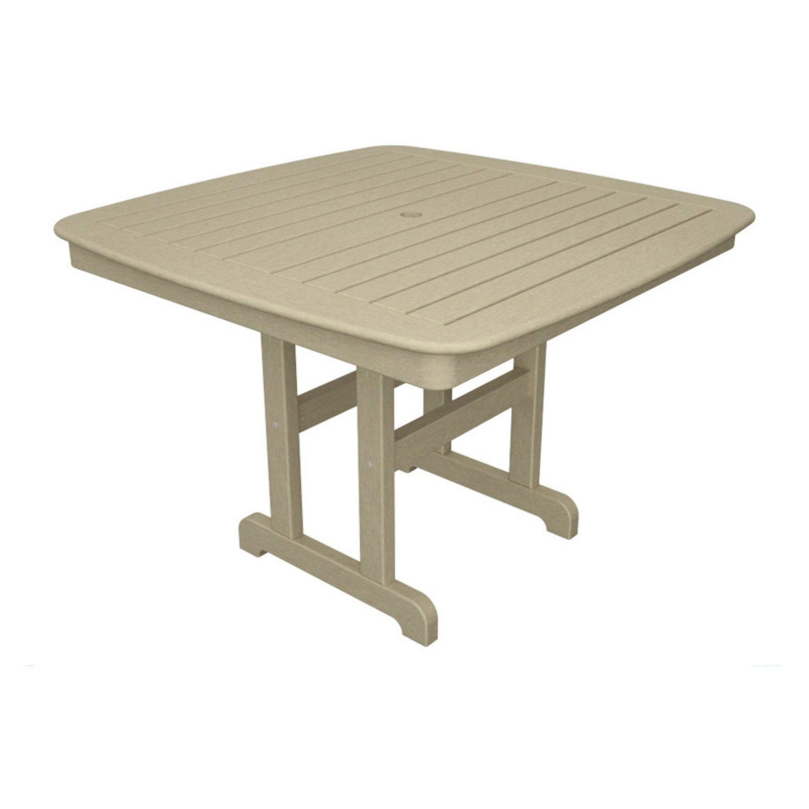 trex outdoor furniture recycled plastic yacht club patio dining table