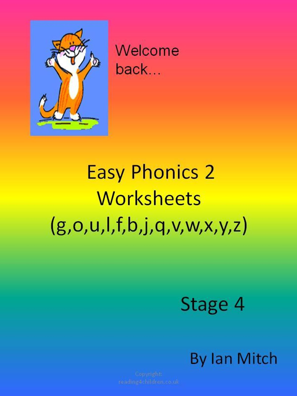 Easy Phonics 2 Worksheets G O U L F B J Q V W X Y Z