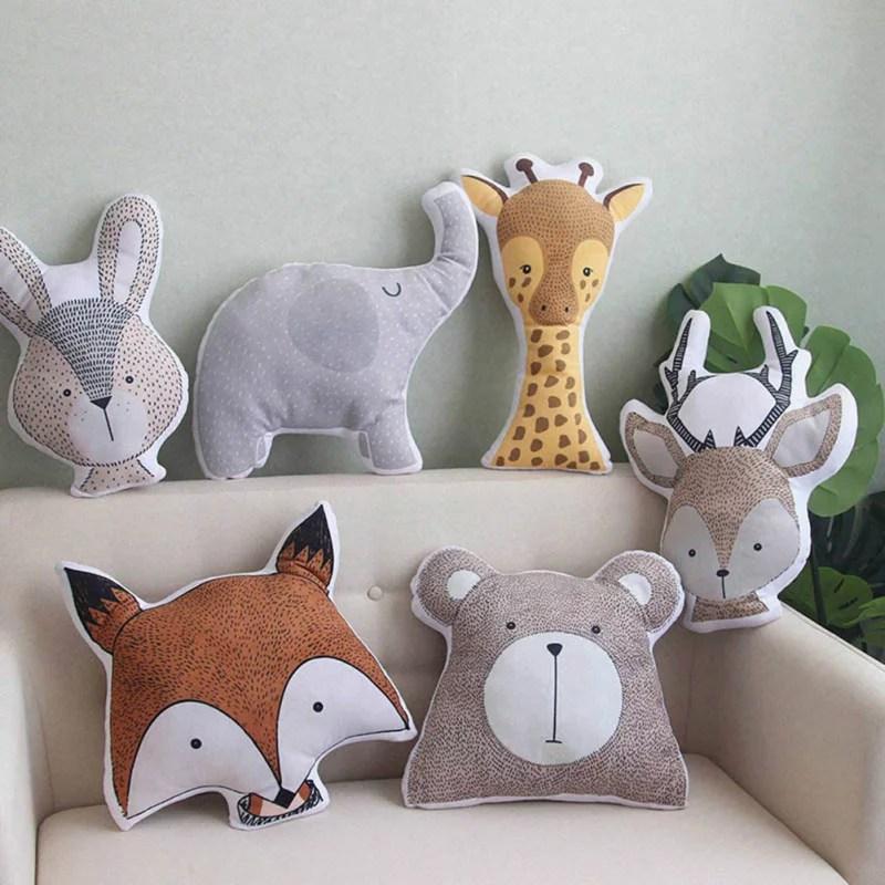 cute animals pillow sofa cushion baby calm sleep doll bed room decor cute animal toys for kids
