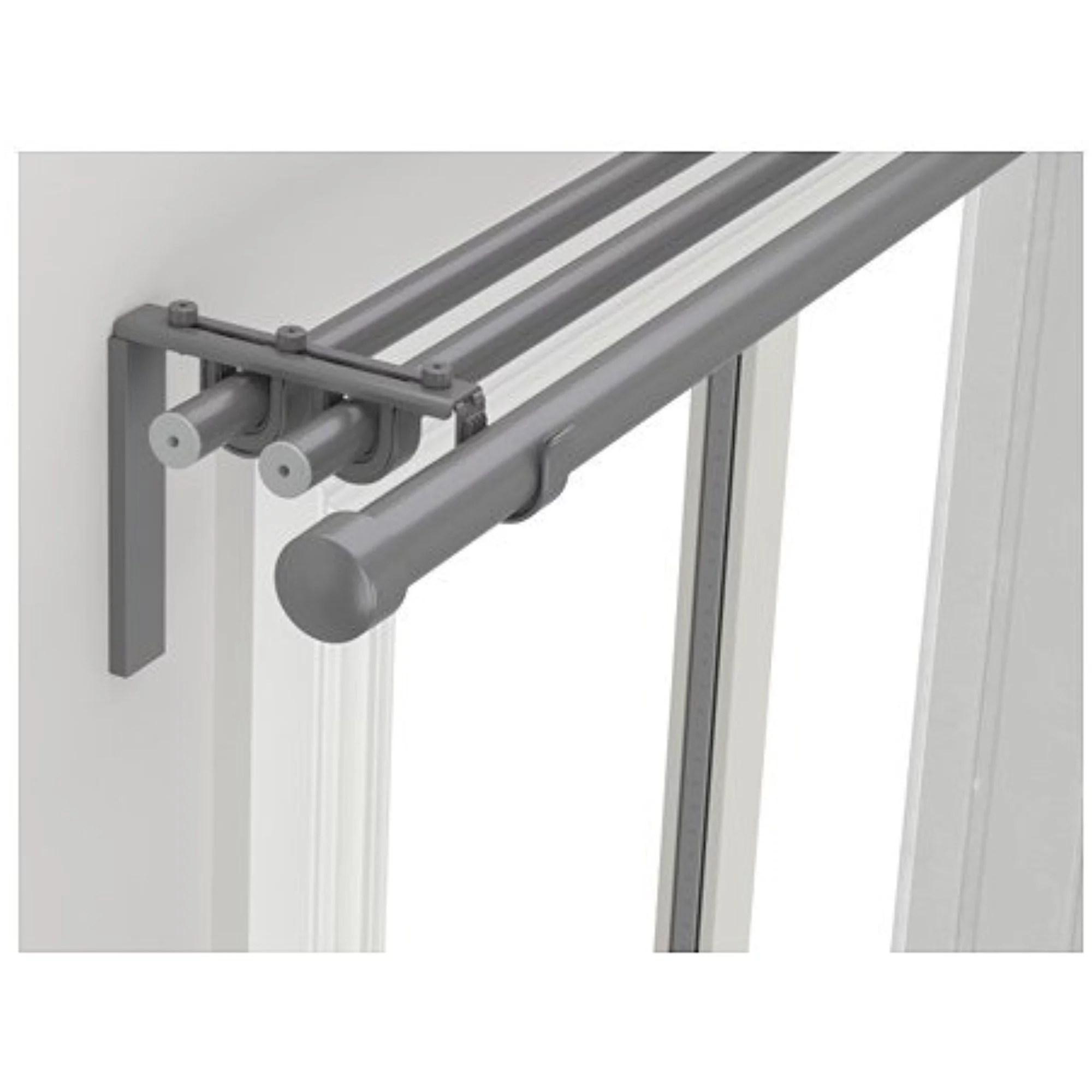 ikea triple curtain rod combination silver color 122020 82917 3430 walmart com