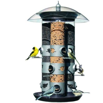 Birdscapes 2 in 1 Triple Tube Feeder   Walmart com Birdscapes 2 in 1 Triple Tube Feeder