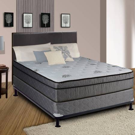 Continental Sleep Fifth Ave Collection 13 Fully Assembled Foam Encased Soft Eurotop Orthopedic Mattress Set