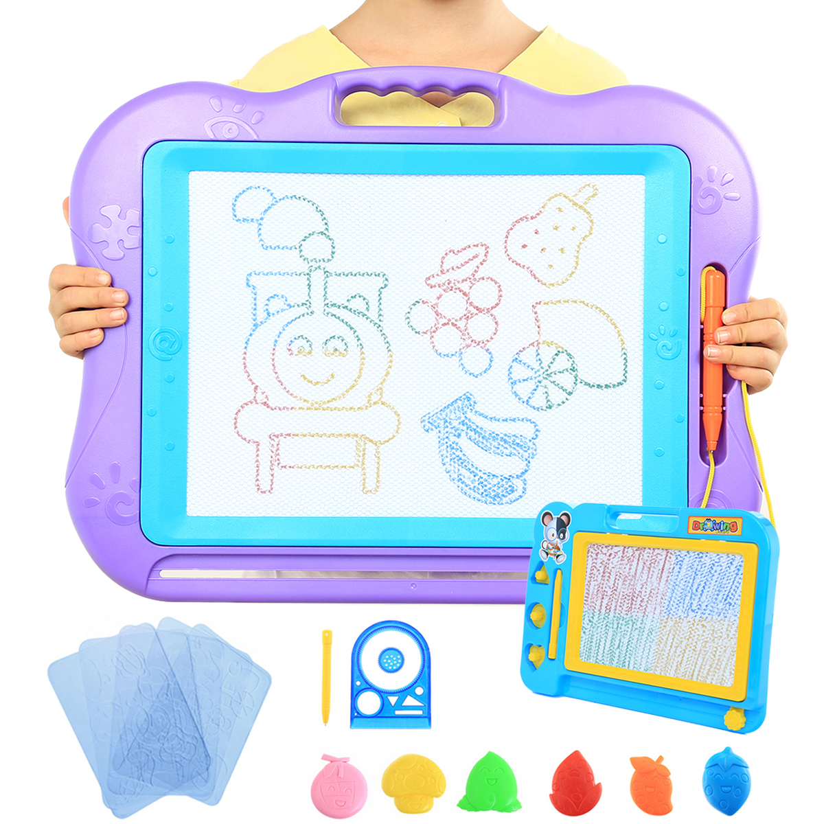 2 Sets Magnetic Drawing Board For Kids 13 X 17 A4 Size