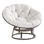 Better Homes Gardens Papasan Chair With Fabric Cushion Pumice Gray Walmart Com Walmart Com