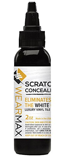 wearmax scratch concealer for luxury vinyl tile lvt flooring scratch repair touch up remover eliminate white lines from lvt floors