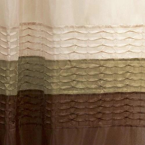 lush decor mia shower curtain green brown