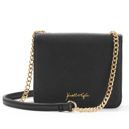 Kendall + Kylie for Walmart Black Pebble Faux Leather Mini Crossbody