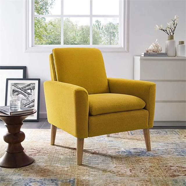 Dazone Modern Accent Fabric Chair Single Sofa Comfy ...