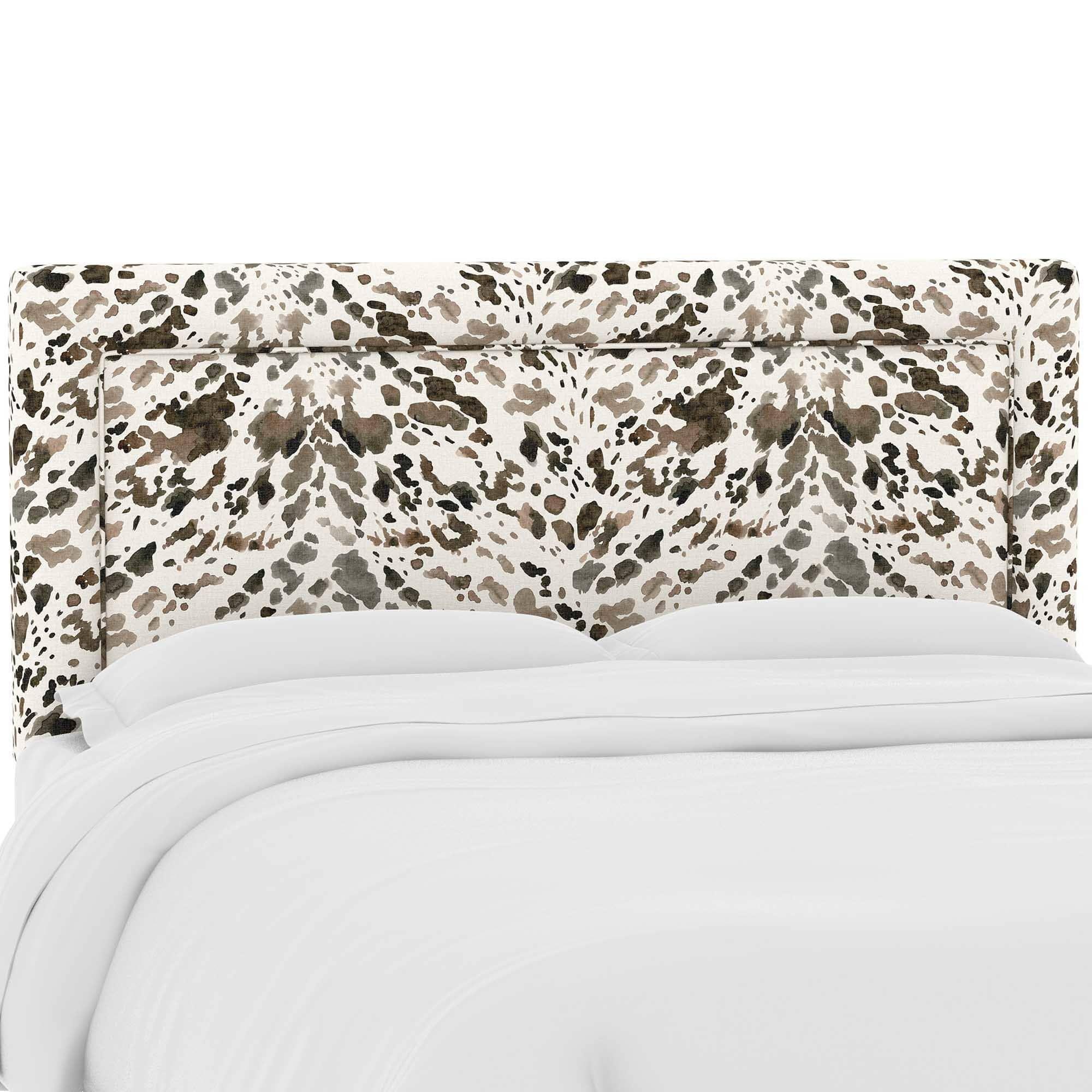 skyline furniture custom upholstered headboard in prints